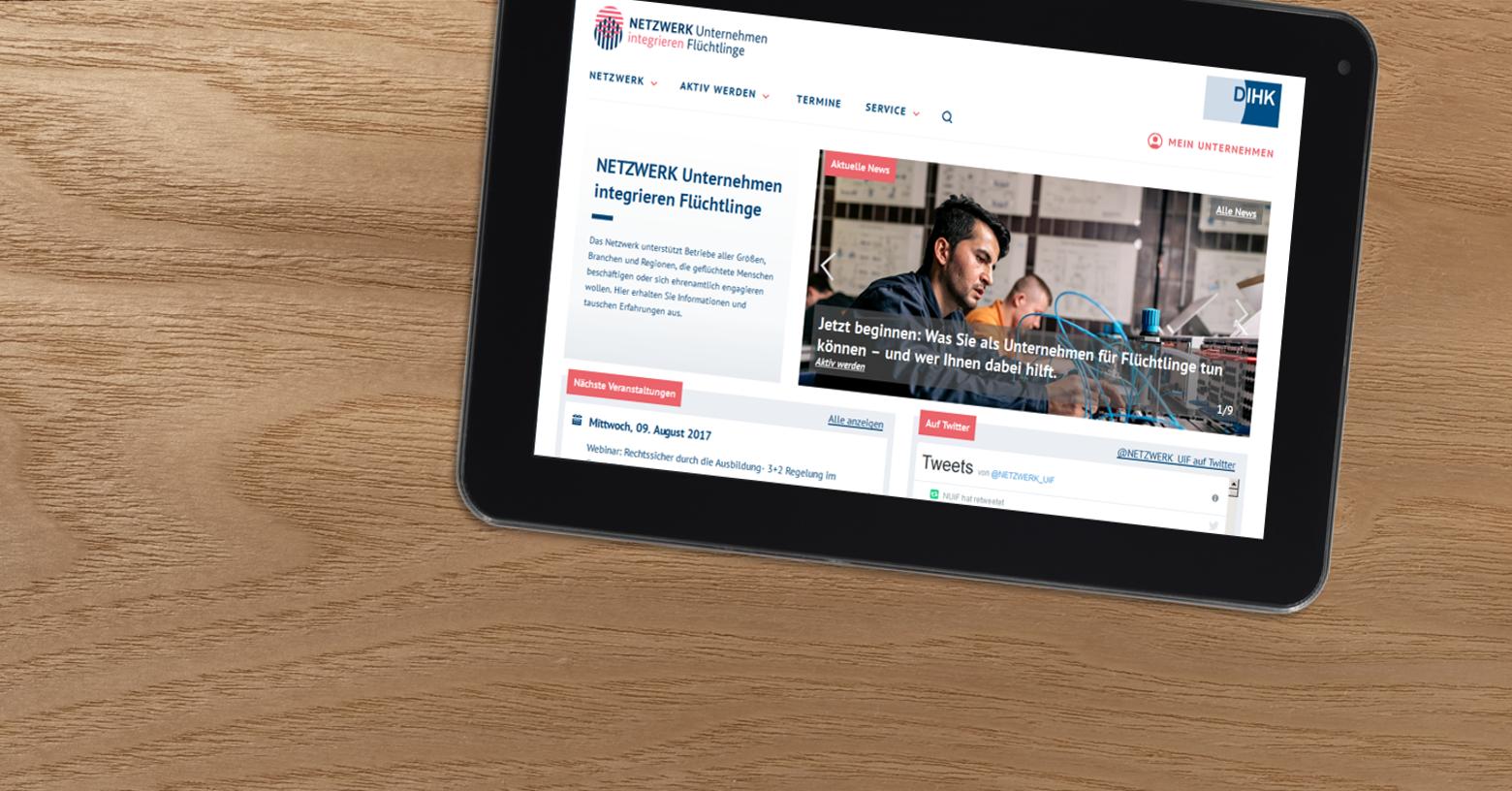 Die neue Webseite www.unternehmen-integrieren-fluechtlinge.de