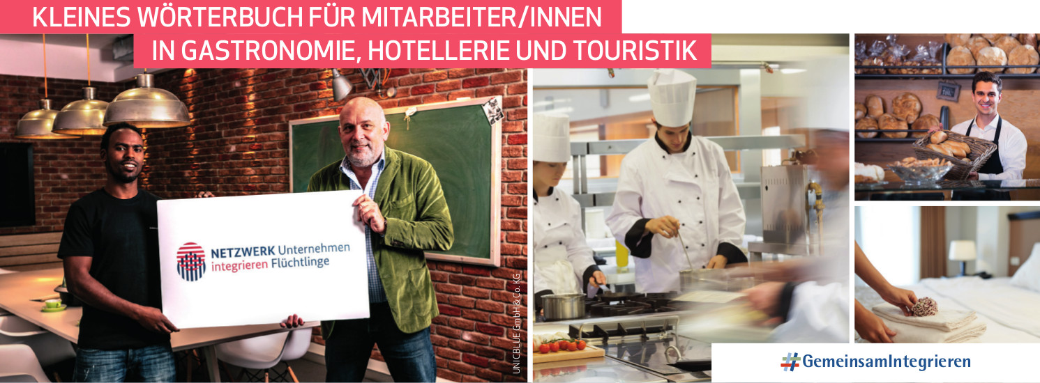 Kleines Wörterbuch für MitarbeiterInnen in Gastronomie, Hotellerie und Touristik