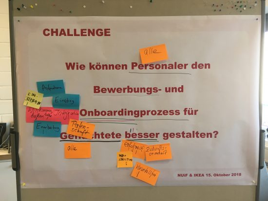 Sticky Notes an einer Metaplanwand